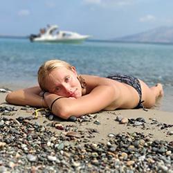 topless deserted beach